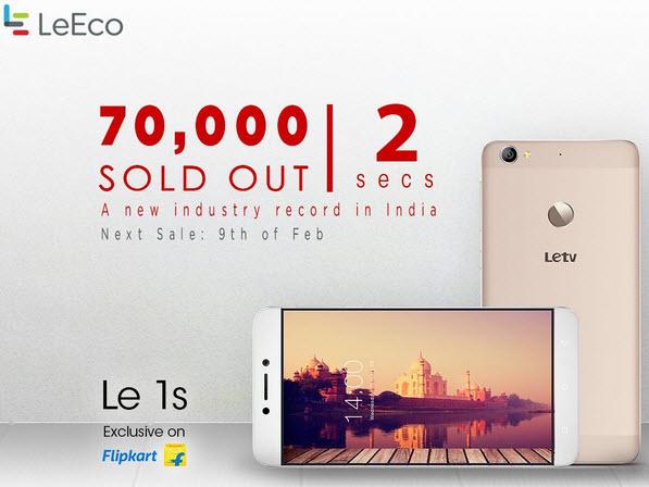 В декабре было продано более одного миллиона смартфонов LeEco Le 1s
