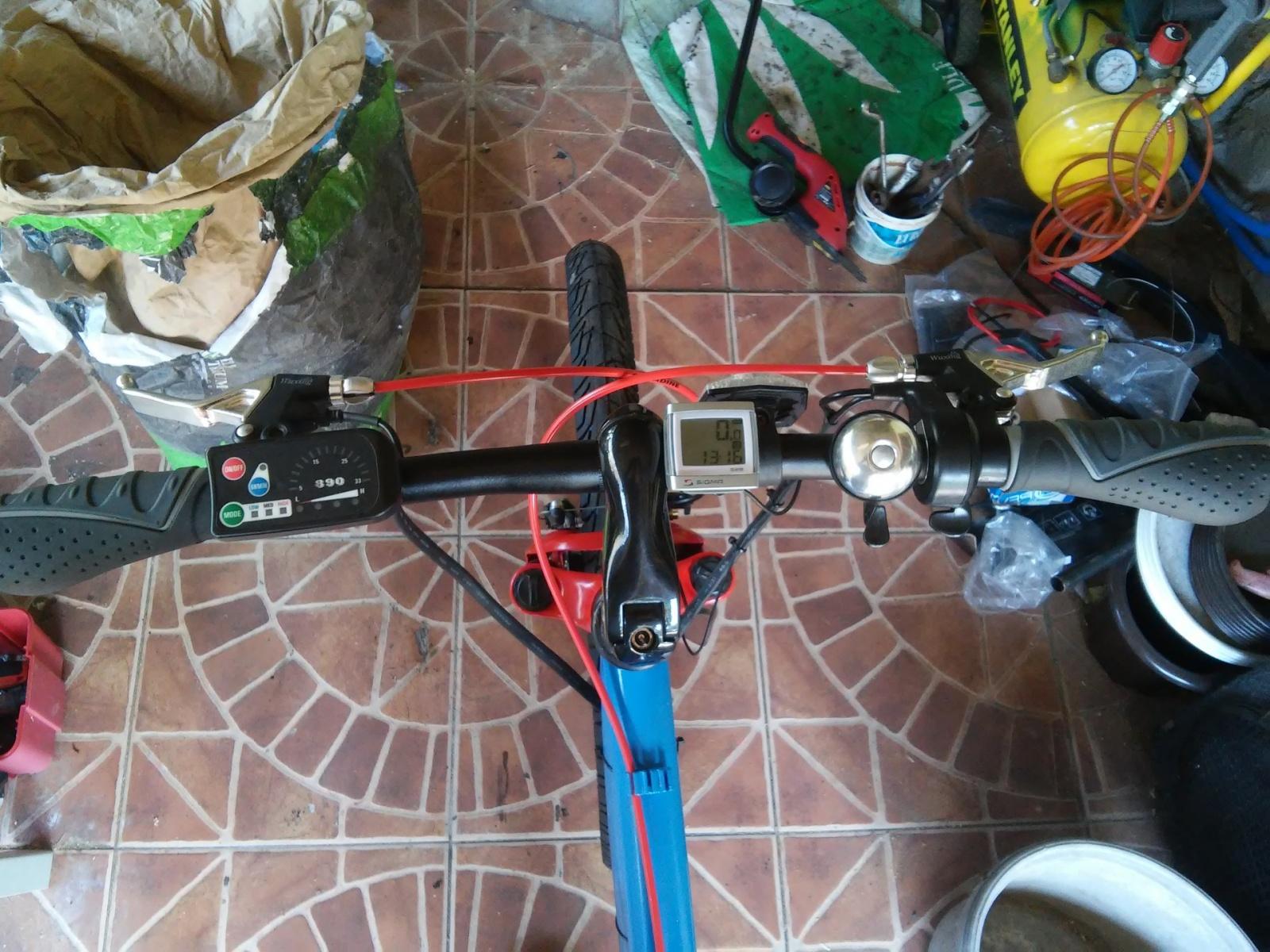 Новая жизнь бюджетного горного велосипеда, превращение в электричку - 25