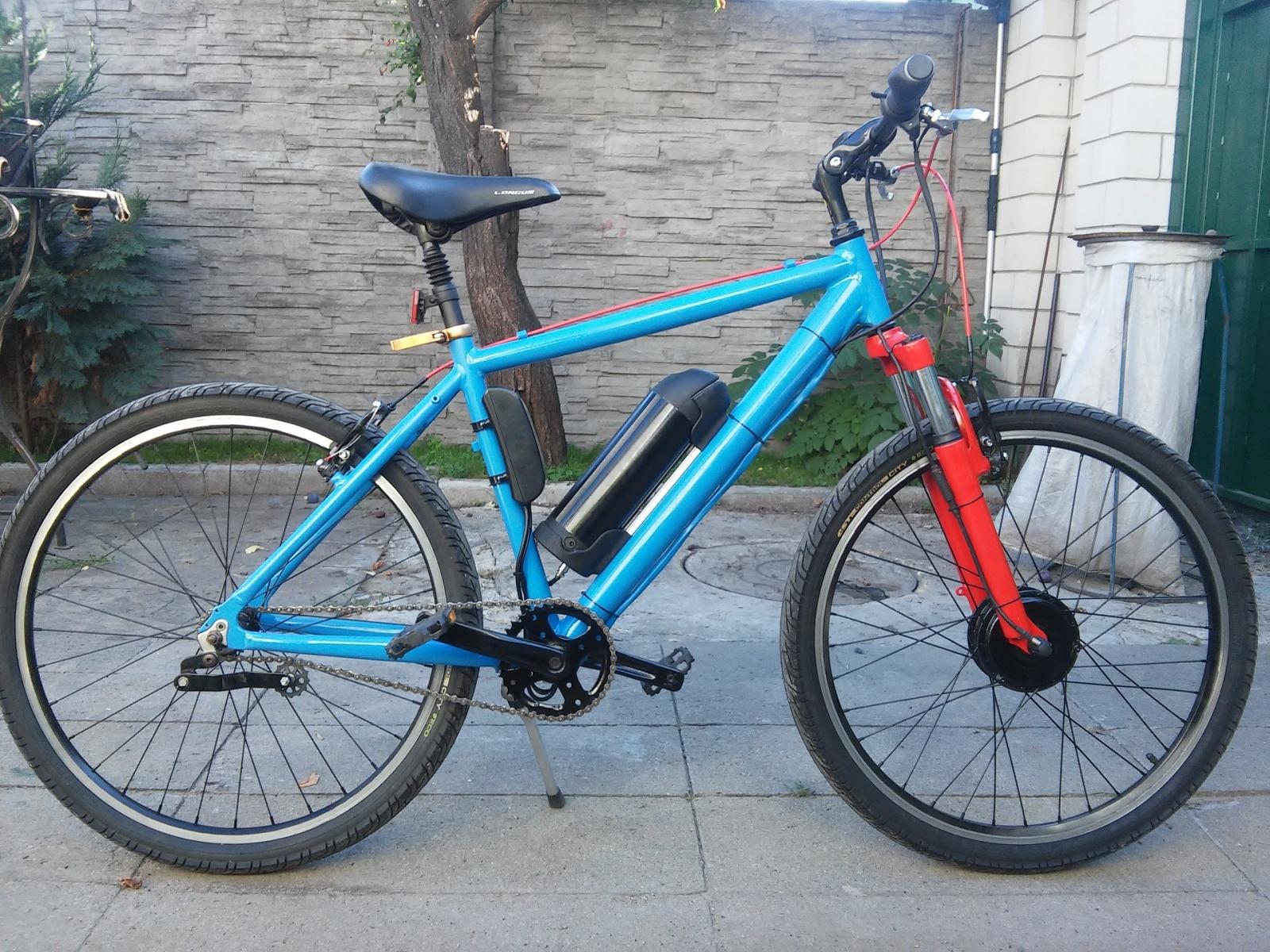 Новая жизнь бюджетного горного велосипеда, превращение в электричку - 26