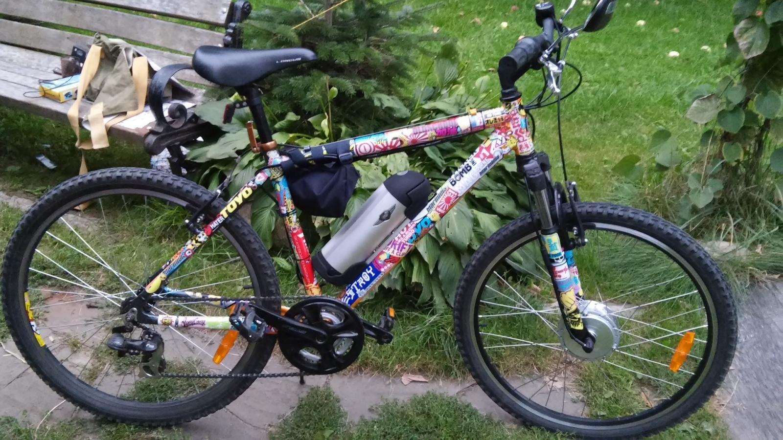 Новая жизнь бюджетного горного велосипеда, превращение в электричку - 7