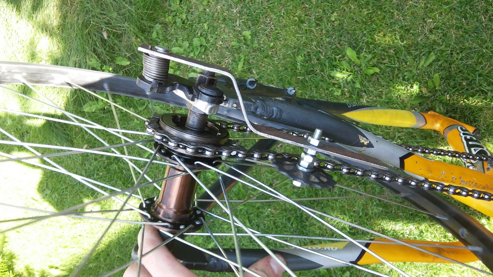 Новая жизнь бюджетного горного велосипеда, превращение в электричку - 9