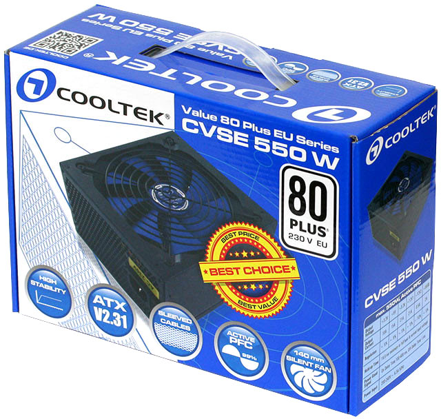 Блоки питания CVSE мощностью 350, 450 и 550 Вт оценены производителем в 43, 50 и 60 евро соответственно