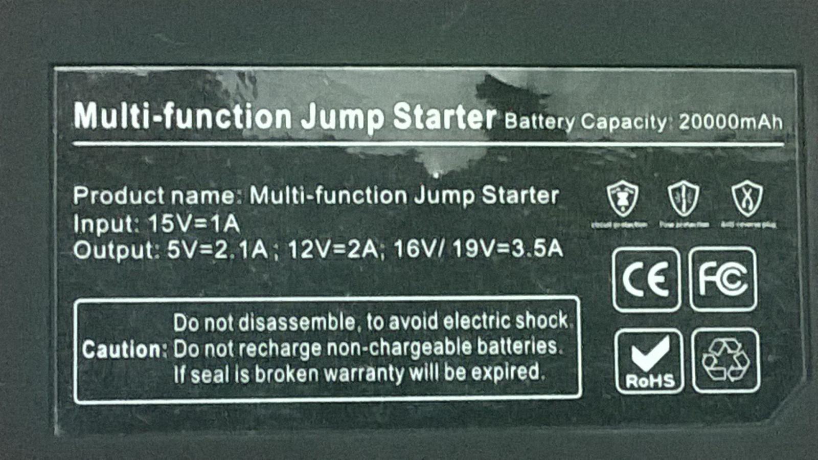Заряд на любой случай жизни или пусковое устройство V5 Car Jump Starter 21000mah - 8