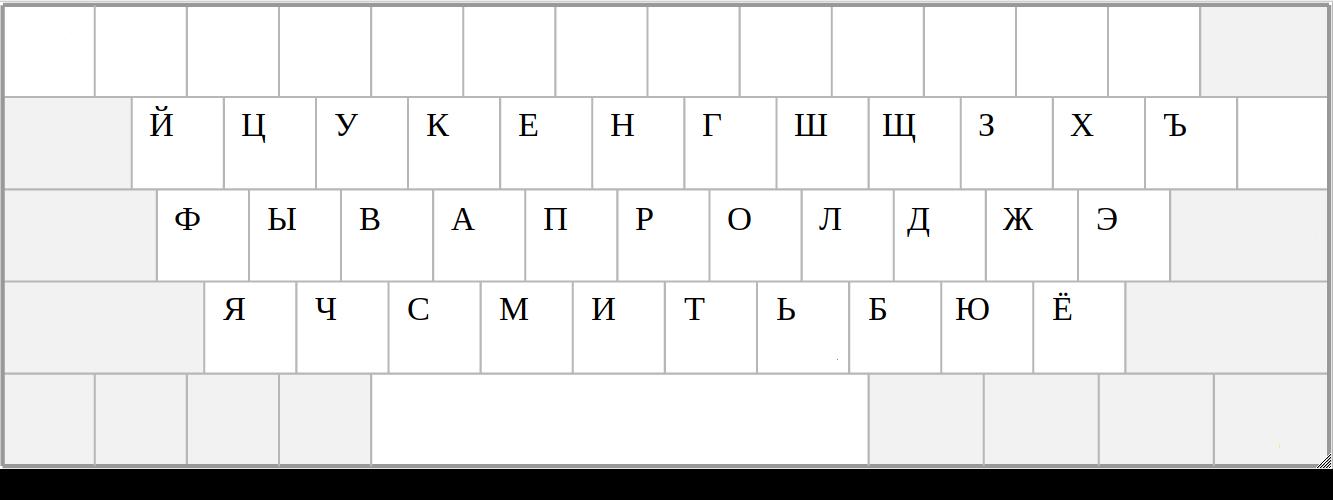 Раскладка клавиатуры - 4