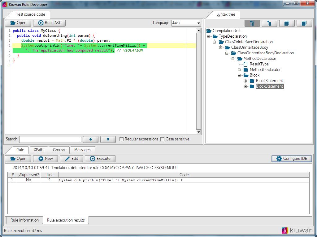 Написание кастомных правил для анализатора кода Kiuwan - 8