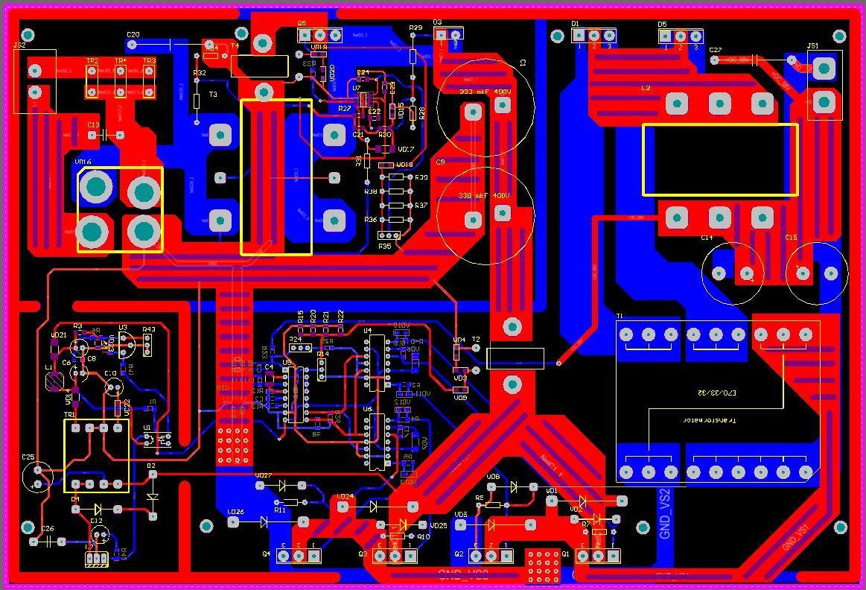 Полная схемотехника активного ККМ и зарядного устройства для ИБП 3 кВт - 5