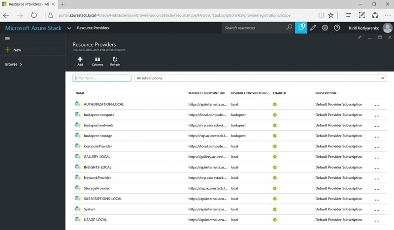 Обзор возможностей Azure Stack Technical Preview 1 - 4