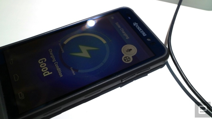 Kyocera и Sunpartner Technologies предлагают встраивать солнечные панели прямо в экраны смартфонов