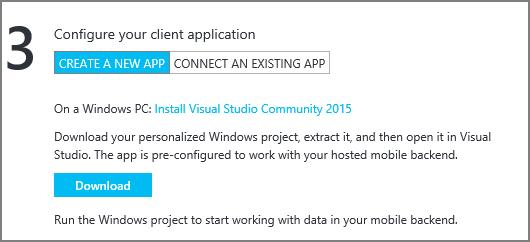 Приложение Windows 10 с данными в облаке с помощью Azure Mobile Apps - 9