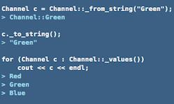 Удобное преобразование перечислений (enum) в строковые в С++ - 1