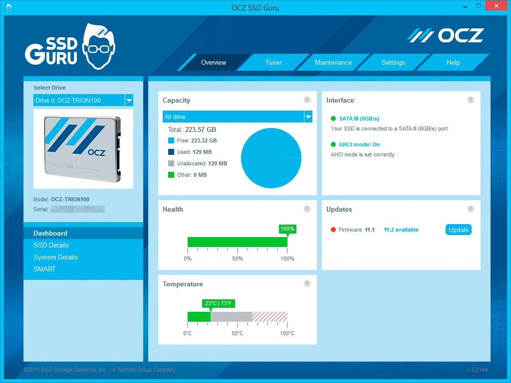Обзор SSD-накопителя OCZ Trion 100 - 15