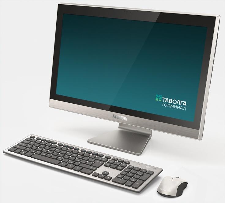 Компьютер «Таволга Терминал» находится в одном корпусе с дисплеем Full HD размером 21,5 дюйма