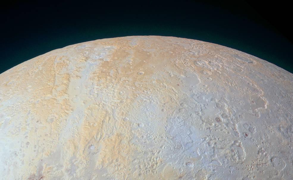 Новые фото от New Horizons: ледяные каньоны Плутона - 1