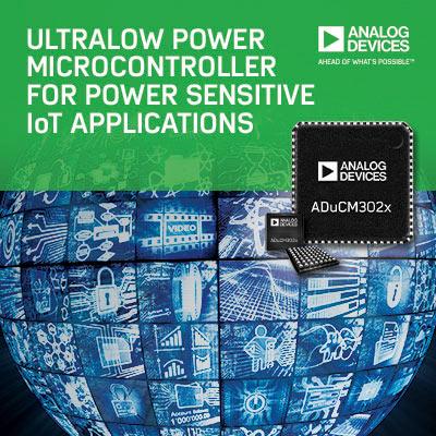 Низкое энергопотребление микроконтроллеров Analog Devices ADuCM302x позволяет увеличить время автономной работы устройств