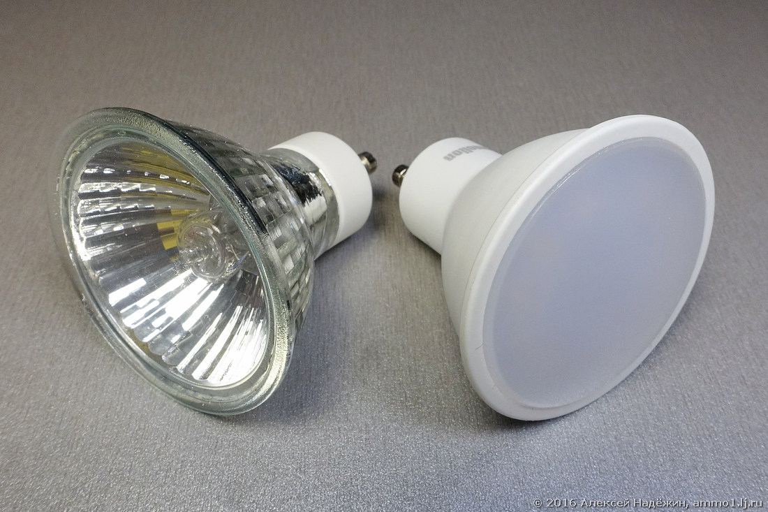 Почему светодиодные споты слепят - 1