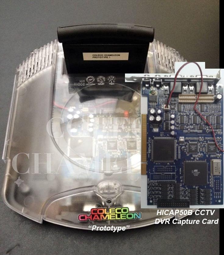 Coleco Chameleon, игровая ретро-консоль с Indiegogo, собрана из картона, изоленты и платы видеозахвата - 3