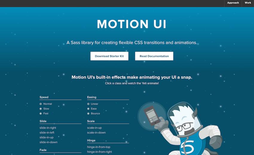 Как создать анимацию и переходы с помощью Motion UI - 1