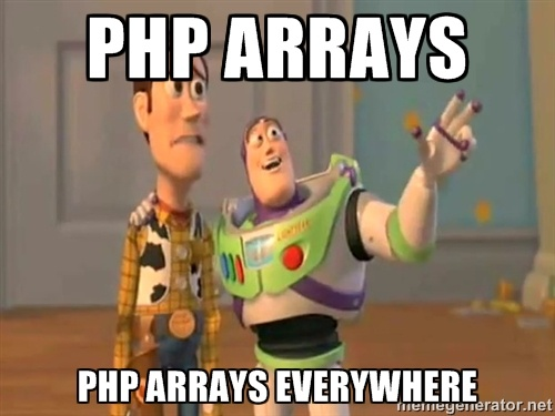 php arrays everywhere