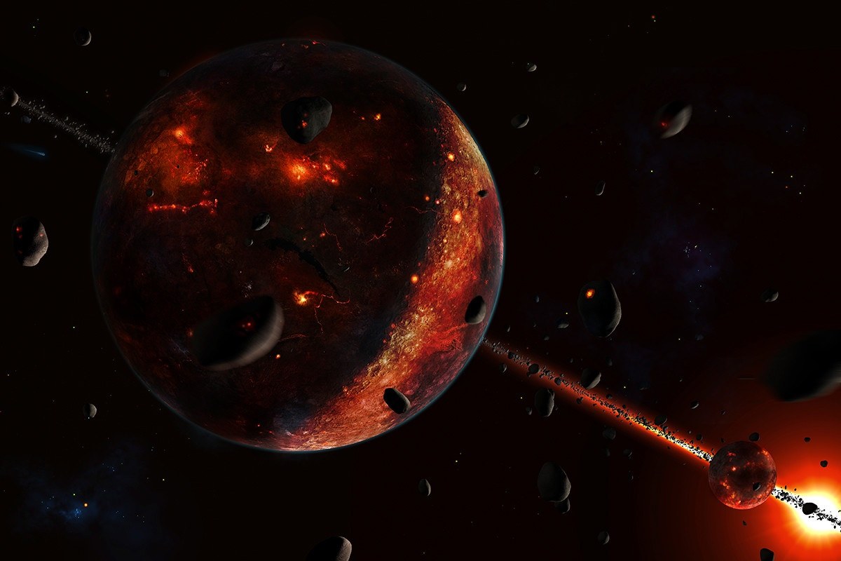 Причиной появления «океана-однодневки» на Марсе могли стать астероиды - 1
