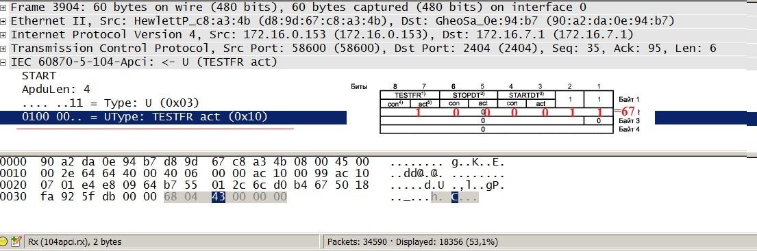 Как я писал библиотеку под МЭК 870-5-104 на Arduino при помощи Wireshark - 23