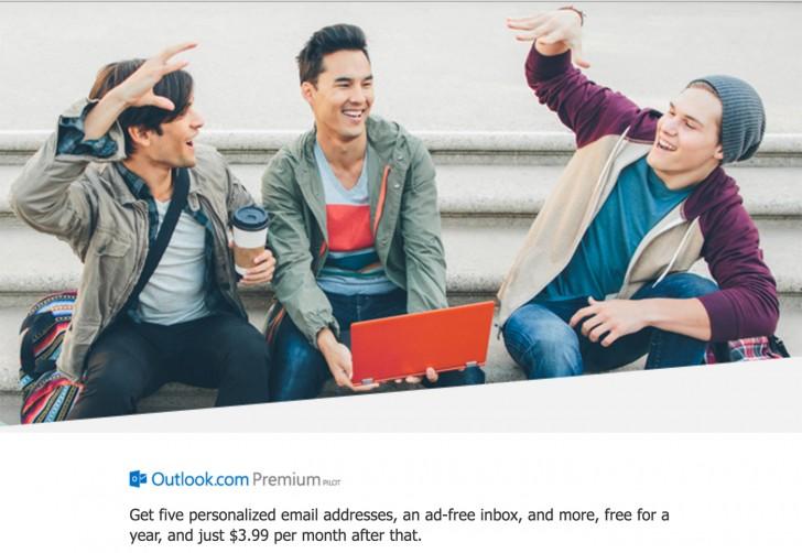Ежемесячная подписка на почтовый сервис Outlook Premium обойдется в $4