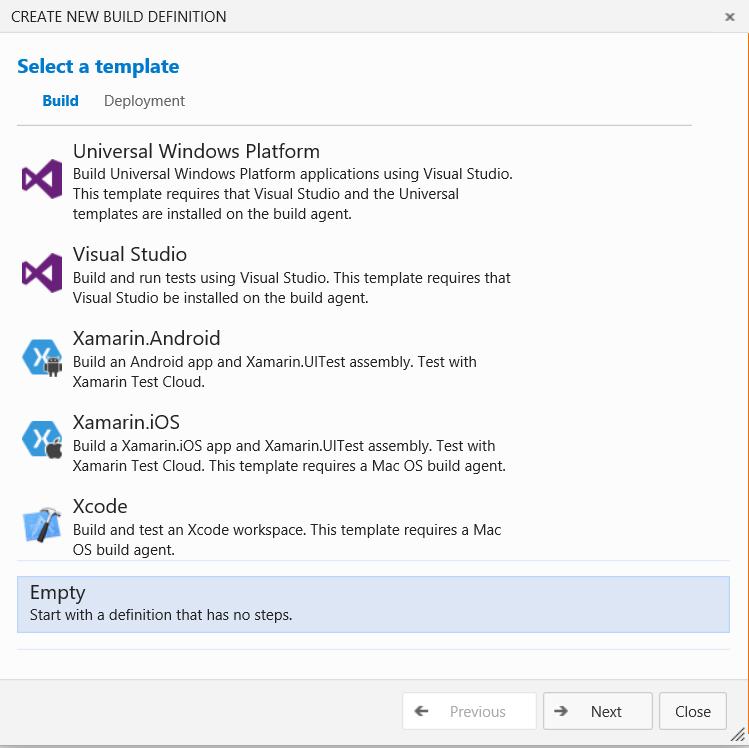Как мы внедряли DevOps: непрерывная интеграция с GitHub и системой сборки Visual Studio Team Services - 3
