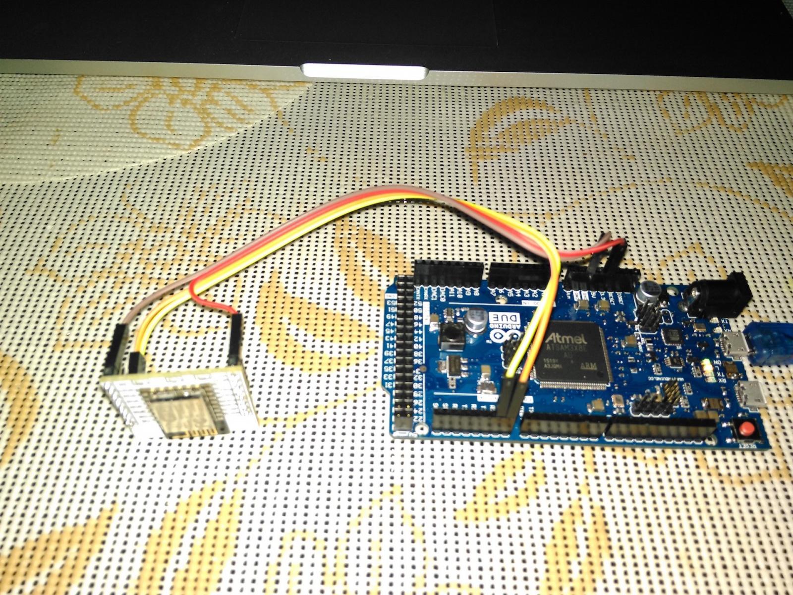 Arduino Due + ESP8266 ESP-12E c адаптером — быстрый старт - 1