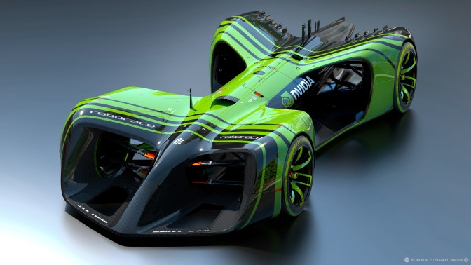 Автомобили Roborace получат сердца Nvidia Drive PX 2