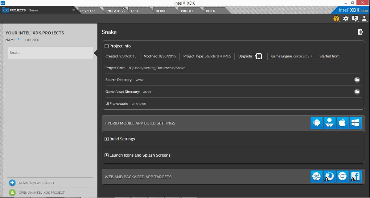 Разработка HTML5-игр в Intel XDK. Часть 1. Знакомство с XDK - 7