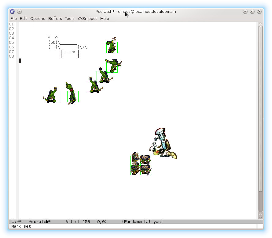 Макросы в Emacs'е: формируем отряды для обработки - 1