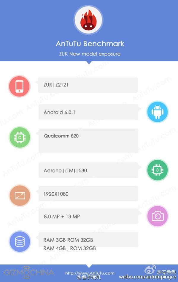Смартфон Zuk Z2 Pro с SoC Snapdragon 820 будет представлен 21 апреля