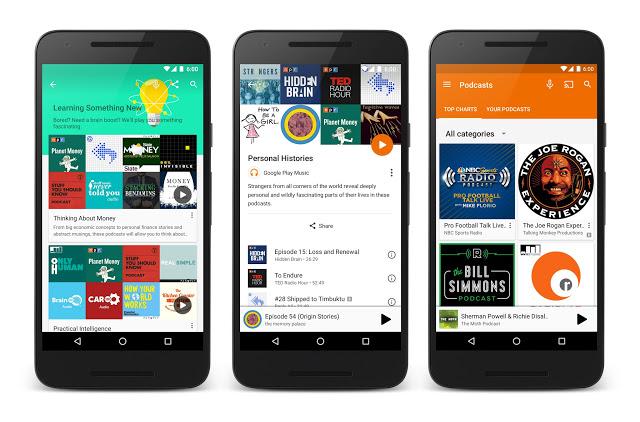 В Google Play Music появились подкасты