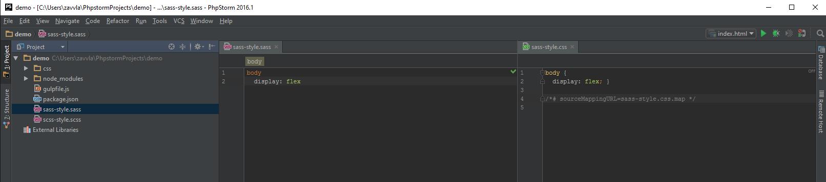 Настройка PhpStorm для вёрстки на ОС Windows - 82