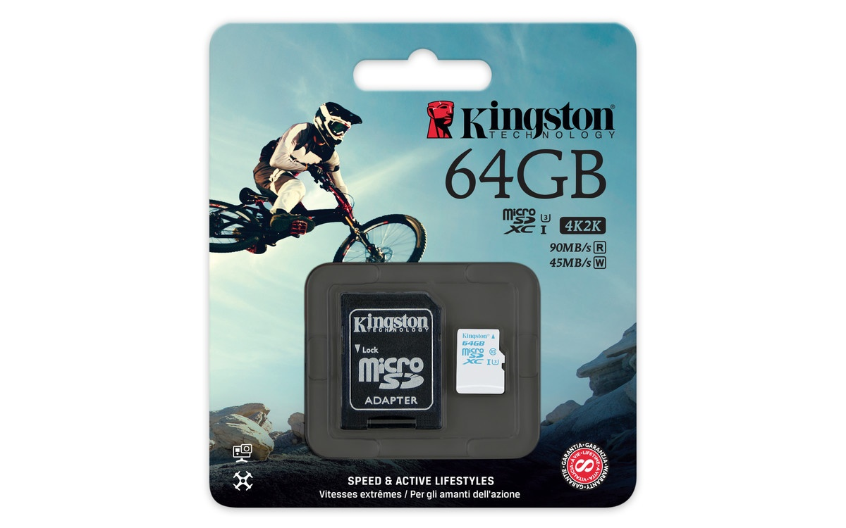 Kingston представляет специальную карту памяти microSDXC для экшен-камер - 2