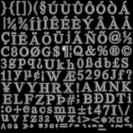 Рендеринг UTF-8 текста с помощью SDF шрифта - 3