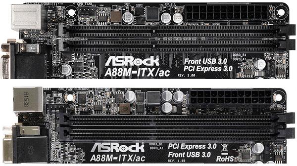 ASRock A88M-ITX/ac R2.0 в сравнении с A88M-ITX/ac