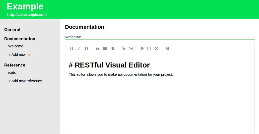 RESTful Visual Editor - 3