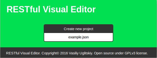 RESTful Visual Editor - 1