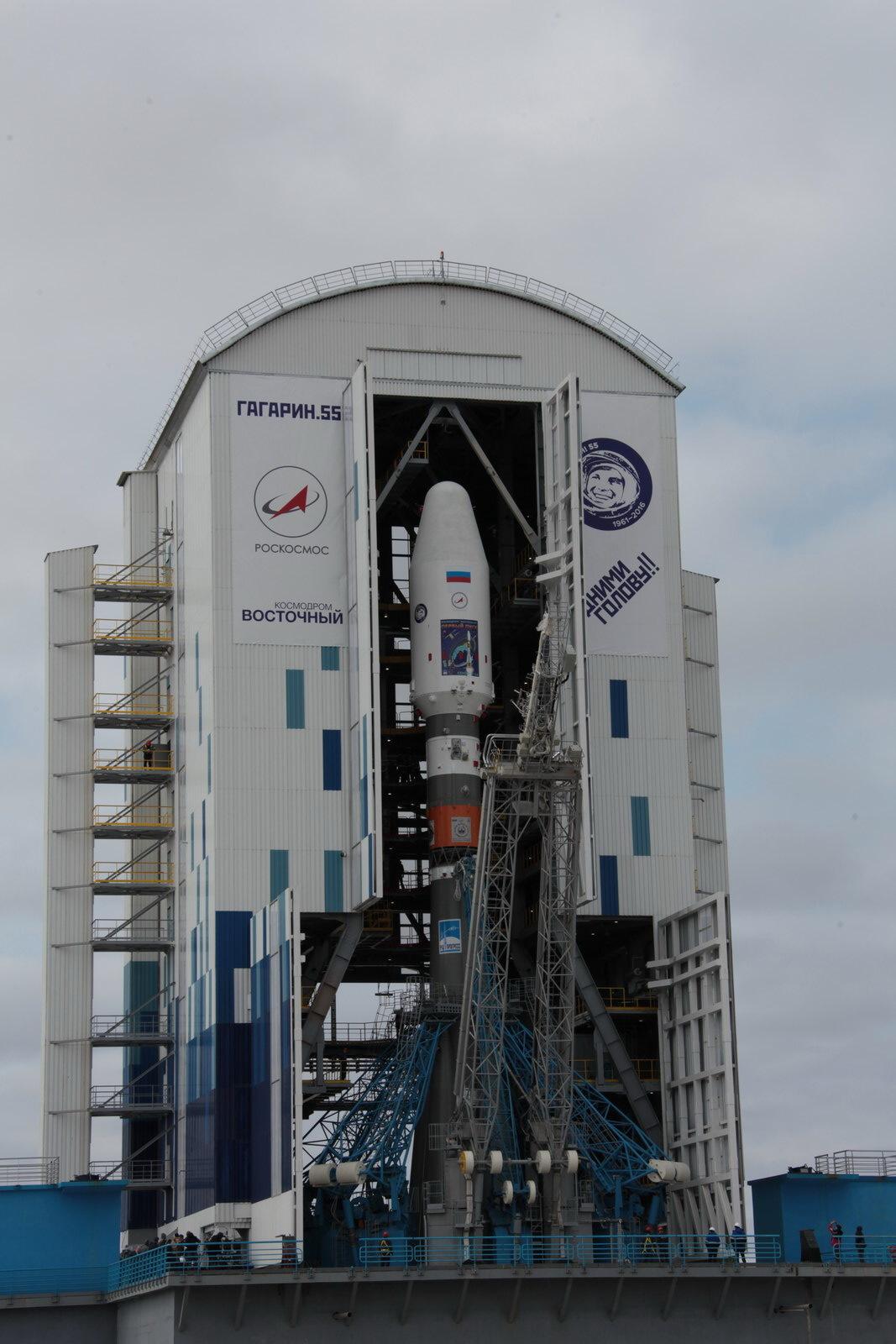 На космодроме Восточный установили ракету-носитель «Союз 2.1а» для первого запуска - 19