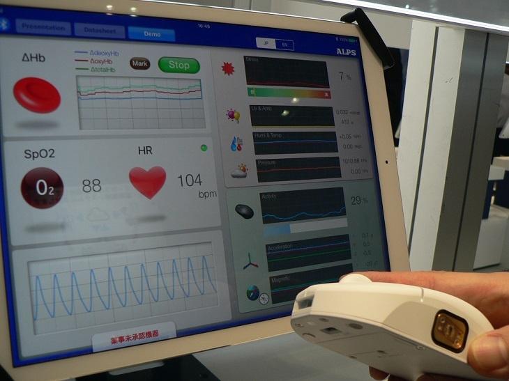 Alps Electric планирует начать выпуск датчика ЧСС и уровня гемоглобина в следующем году