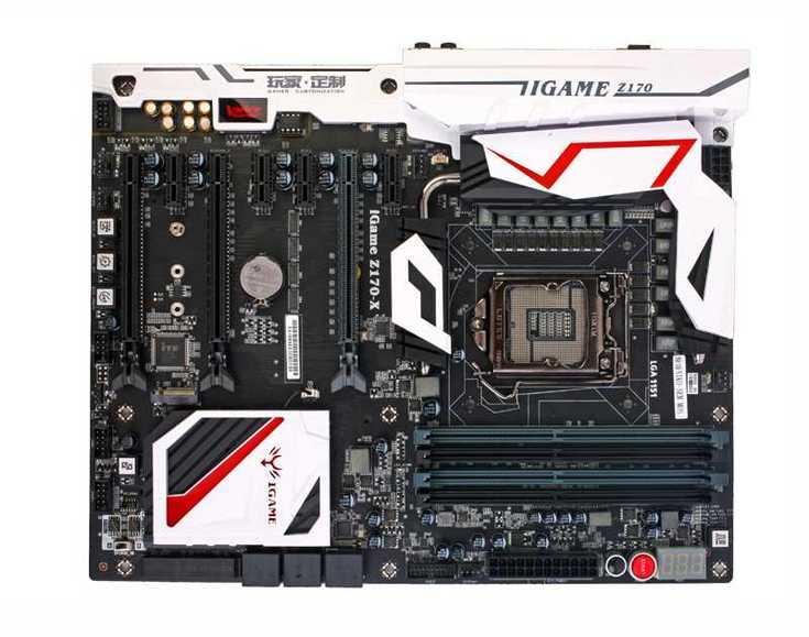 Системная плата Colorful iGame Z170 Ymir-X располагает четырьмя слотами PCIe x1
