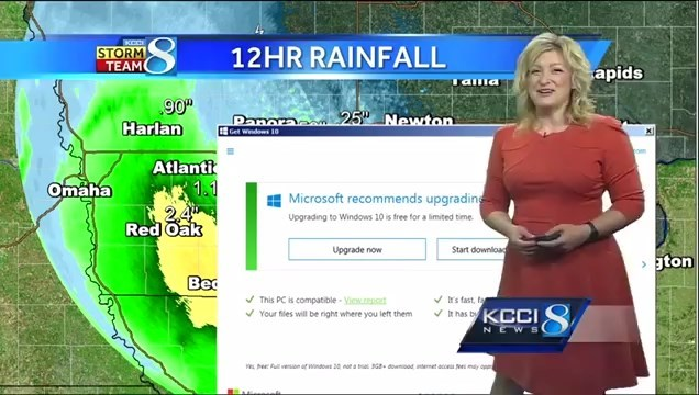 Окно обновления Windows 10 прервало прогноз погоды - 1