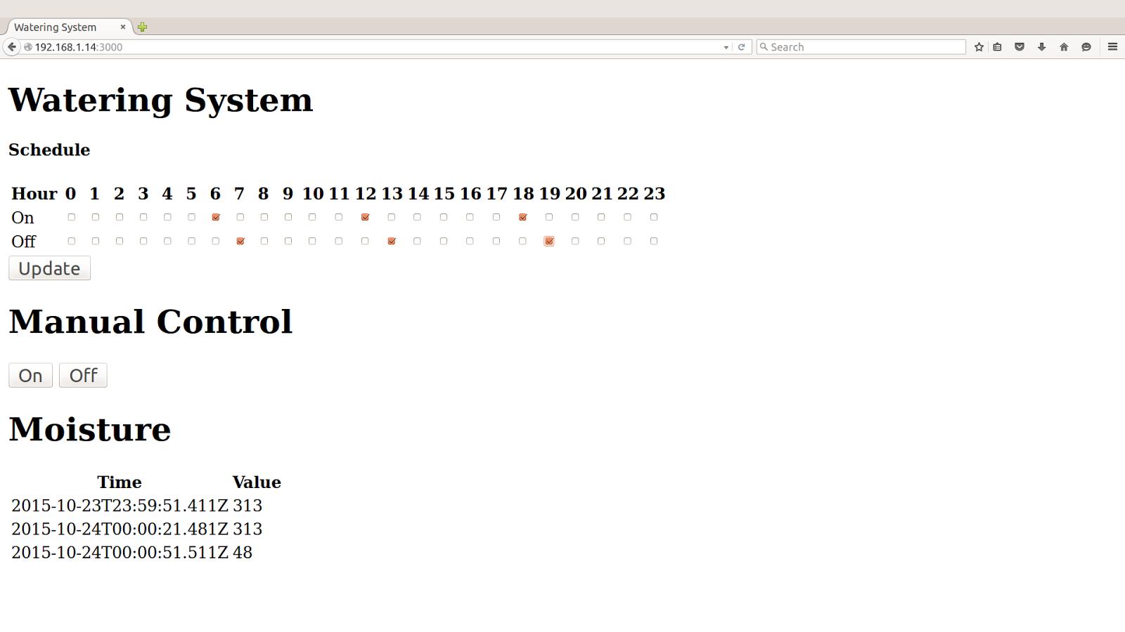 Примеры кода для интернета вещей: умная поливалка - 9
