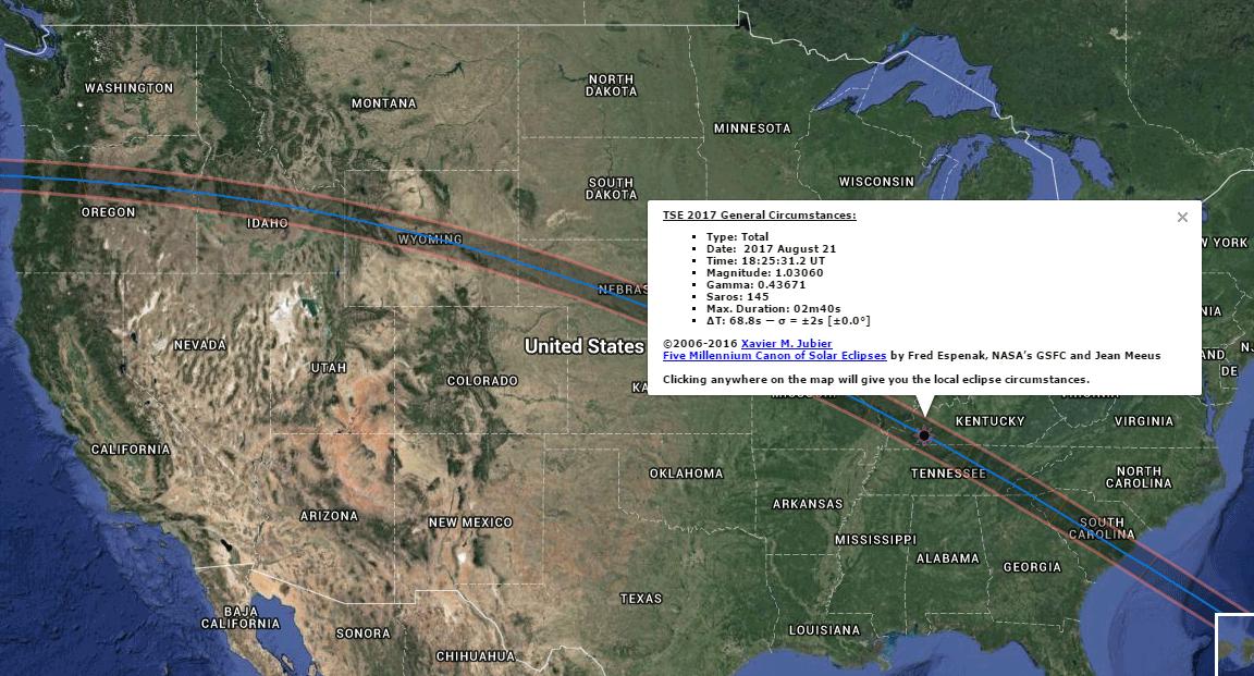 База солнечных и лунных затмений с -1999 по +3000 годы - 2