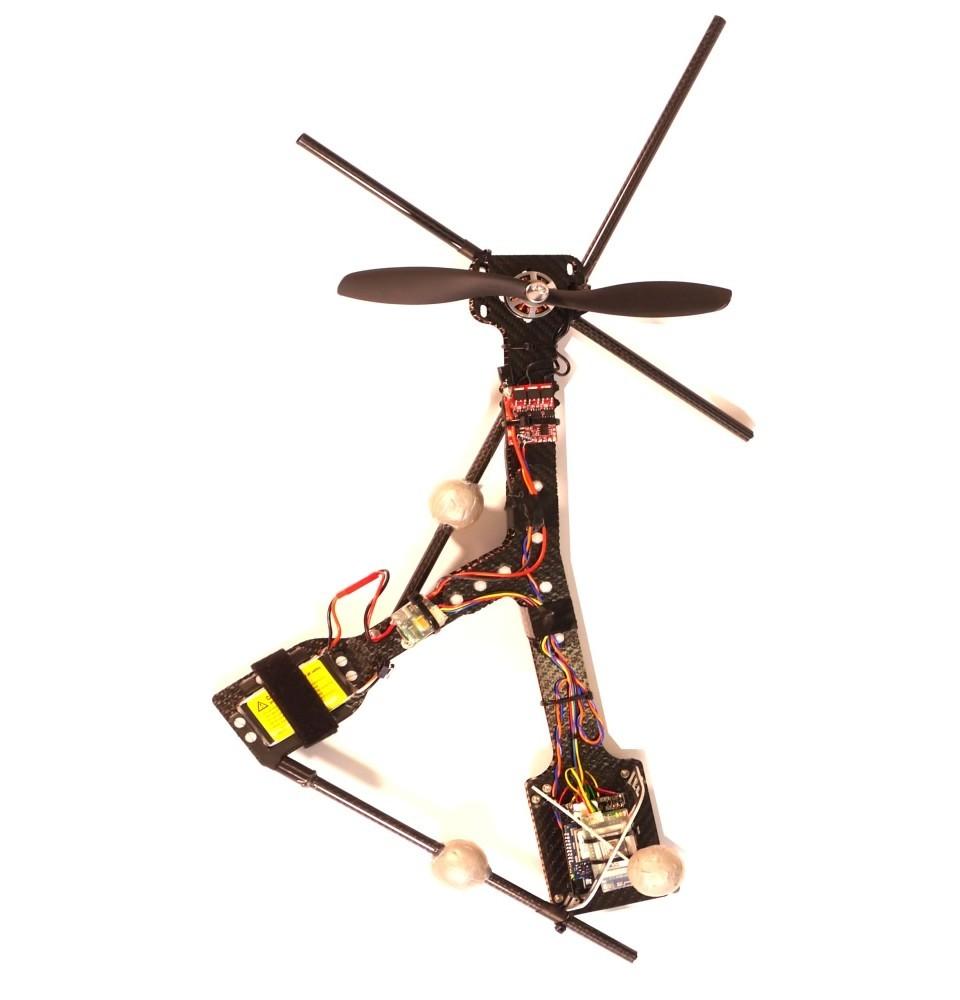 Первый в мире асимметричный дрон с одной подвижной частью - 3