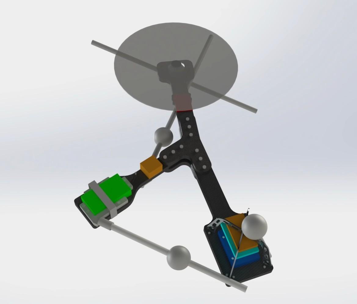 Первый в мире асимметричный дрон с одной подвижной частью - 1