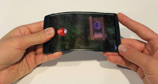 HoloFlex- гибкий смартфон с поддержкой 3D без очков