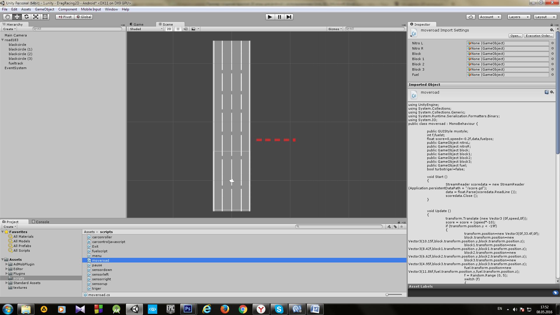Пример создания простой 2D игры для Android с использованием игрового движка Unity - 10