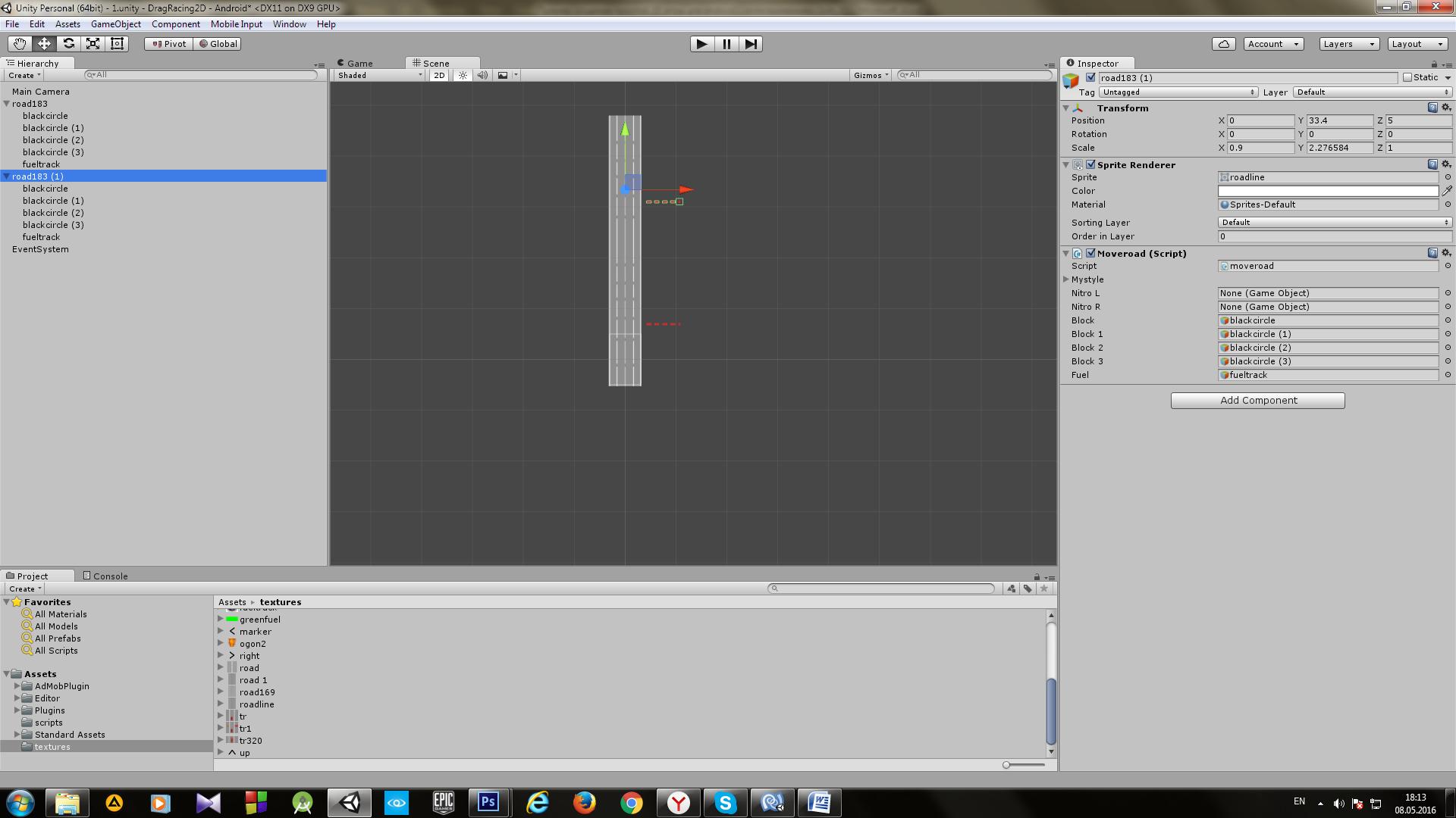 Пример создания простой 2D игры для Android с использованием игрового движка Unity - 12