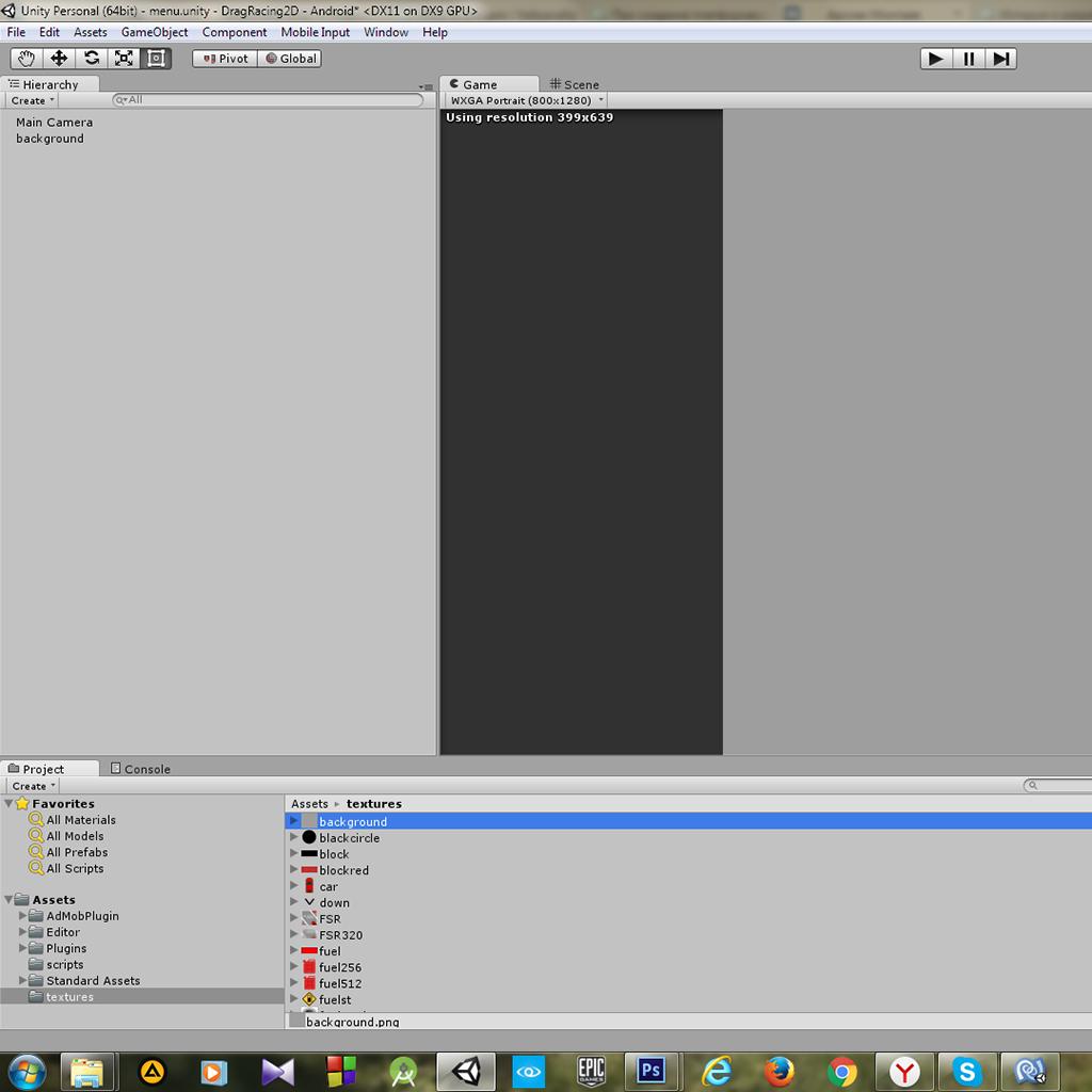 Пример создания простой 2D игры для Android с использованием игрового движка Unity - 4